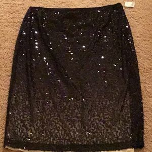 NWT Talbots Collection ombré sequin skirt